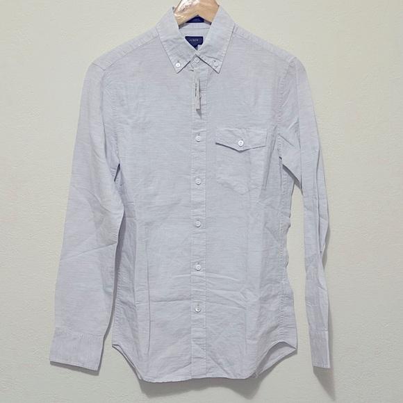JCREW slim linen cotton blend Baird McNutt shirt